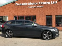 USED 2015 15 VOLVO V60 2.4 D5 R-DESIGN LUX NAV 5d 212 BHP Only £30 a year road tax,     Full service history,     R-Design steering wheel,     R-Design contrasting leather upholstery,     Heated front seats,     Electric/Memory driver's seat,       Bluetooth,       Sat Nav,       Wi-Fi,       DAB Radio,     Rear parking sensors