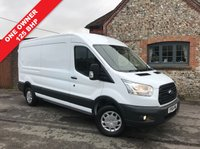 USED 2015 65 FORD TRANSIT 2.2 350 SHR P/V 1d 125 BHP Semi High Roof, 125 BHP, Parking Censors, Bluetooth Phone Connectivity.