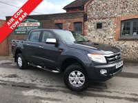 USED 2015 64 FORD RANGER 2.2 XLT 4X4 DCB TDCI 1d 148 BHP Air Conditioning, Tow Bar, Finance Arranged, 4x4.