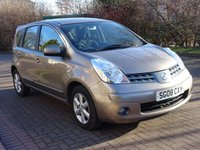 USED 2008 08 NISSAN NOTE 1.4 ACENTA 5d 88 BHP 1 PREVIOUS KEEPER +   MOT JAN 2019 +  SERVICE RECORD + BLUETOOTH +