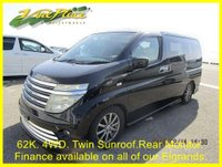 2003 NISSAN ELGRAND Rider Autec 3.5 4 WD Automatic 8 Seats,Full Leather,Twin Roof,Power Curtains £7000.00