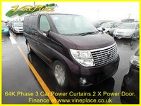 USED 2007 57 NISSAN ELGRAND V Edition 2.5 Auto 8 Seats, Rare Red Purple Pearl,Power Curtains,Twin Power Door RARE PEARL RED+POWER CURTAINS+TWIN POWER DOORS