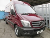 2014 MERCEDES-BENZ SPRINTER 313 CDi MWB High roof Panel Van *ONLY 21000 MILES* £15000.00