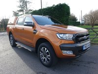 USED 2016 65 FORD RANGER WILDTRAK 4X4 Double Cab Automastic 3.2Tdci 200Ps Direct From Leasing Company With 23000 Miles & Full Service History, Fitted with 3 Way Opening Utility Hard Top