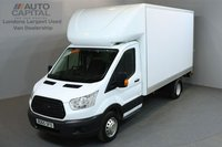 USED 2015 65 FORD TRANSIT 2.2 350 C/C DRW 3d 124 BHP L3 LWB REAR TAIL LIFT FITTED LUTON VAN  ONE OWNER FROM NEW