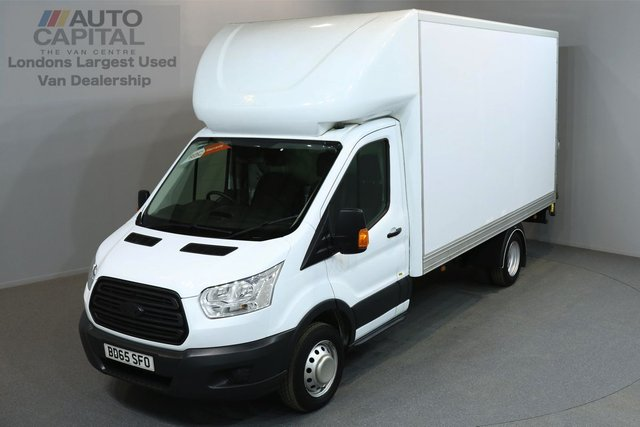 2015 65 FORD TRANSIT 2.2 350 C/C DRW 3d 124 BHP L3 LWB REAR TAIL LIFT FITTED LUTON VAN  ONE OWNER FROM NEW