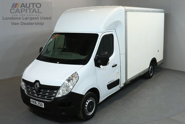 2016 16 RENAULT MASTER 2.3 LL35 BUSINESS 125 BHP LWB LUTON VAN ONE OWNER FROM NEW