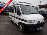 USED 1999 PEUGEOT BOXER 2.0 BOXER 270 SWB 1d 128 BHP AUTO SLEEPER 1999 LOW MILES NEW MOT 6 X MONTHS WARRANTY FULL SERVICE