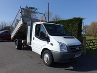 2011 FORD TRANSIT 350 LWB Single Cab Tipper With Tool Store 2.2Tdci 125Ps £11995.00