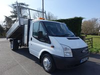 2013 FORD TRANSIT 350 LWB Single Cab Tipper With Tool Store 2.2Tdci 125Ps £13995.00