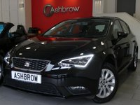 USED 2016 65 SEAT LEON 1.6 TDI SE TECHNOLOGY 5d 110 S/S SAT NAV, BLUETOOTH PHONE & MUSIC STREAMING, DAB RADIO, LED FRONT & REAR LIGHTS, LEATHER MULTI FUNCTION STEERING WHEEL, CRUISE CONTROL, CD HIFI WITH 2x SD CARD READERS, AUX & USB INPUTS, AIR CONDITIONING, 1 OWNER FROM NEW, FULL SEAT SERVICE HISTORY, BALANCE OF SEAT WARRANTY, £0 ROAD TAX (99 G/KM)