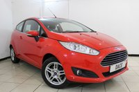 USED 2014 14 FORD FIESTA 1.2 ZETEC 3d 81 BHP BLUETOOTH + MULTI FUNCTION WHEEL + AIR CONDITIONING + AUXILIARY PORT + RADIO/CD + 15 INCH ALLOY WHEELS