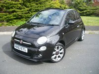 USED 2013 63 FIAT 500 1.2 C S 3d 69 BHP Two Careful Lady Owners From New, JUST 28,000 Miles with Full Service History, Funky Cool Fun Convertible!!!