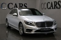 "USED 2014 64 MERCEDES-BENZ S CLASS 3.5 S400 HYBRID L AMG LINE EXECUTIVE 4d AUTO 306 BHP VAT QUALIFYING WITH EXCEUTIVE COMFORT AND VENTILATED FRONT AND REAR SEATS, ELEC PANORAMIC SUNROOF, ELEC ADJ F&R SEATS W/ MEMORY, LED INTELLIGENT LIGHT SYSTEM, ADAPTIVE HIGH BEAM ASSIST, PRIVACY GLASS, 19"" AMG ALLOYS, TV TUNER, KEYLESS GO PACKAGE, ILLUMINATED DOOR SILL PANELS, EXECUTIVE REAR PACKAGE, POWER FOLD MIRRORS, ADJ AIR SUSPENSION, PARKTRONIC W/ ACTIVE PARK ASSIST, REVERSING CAMERA, REAR PASSENGER WINDOW BLINDS, MEDIA INTERFACE, COMAND ONLINE, PARKING PACKAGE, MAGIC VISION CONTROL, FMBSH"