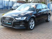 "USED 2013 11 AUDI A3 2.0 TDI SPORT 5d  AUDI HISTORY ~ 17"" ALLOYS ~ SATNAV ~ £20 TAX ~ BLUETOOTH"