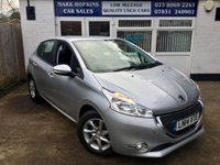 USED 2014 14 PEUGEOT 208 1.2 ACTIVE 5d 82 BHP 7,263 MILES ONLY FSH  ONE FAMILY OWNER  £20/YR TAX  EXCELLENT CONDITION