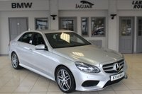 USED 2014 14 MERCEDES-BENZ E CLASS 3.0 E350 BLUETEC AMG SPORT 4d AUTO 249 BHP FULL BLACK LEATHER SEATS + FULL SERVICE HISTORY + COMAND SAT NAV + BLUETOOTH + 18 INCH ALLOYS + HEATED FRONT SEATS + ACTIVE PARK ASSIST + CRUISE CONTROL