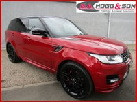 "USED 2016 65 LAND ROVER RANGE ROVER SPORT 3.0 SDV6 AUTOBIOGRAPHY DYNAMIC 5dr AUTO 306 BHP ELECTRIC OPENING PAN ROOF, 22""ALLOYS, BLACK STYLING PACK, TV ETC"