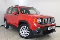 USED 2015 65 JEEP RENEGADE 1.6 M-JET LONGITUDE 5DR 118 BHP SAT NAVIGATION + BLUETOOTH + CRUISE CONTROL + PARKING SENSOR + MULTI FUNCTION WHEEL + AUXILIARY PORT + 17 INCH ALLOY WHEELS