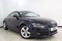 USED 2007 57 AUDI TT 2.0 TFSI 3DR AUTOMATIC 200 BHP FULL SERVICE HISTORY + HEATED HALF LEATHER SEATS + VOICE GUIDED NAVIGATION + BLUETOOTH + PARKING SENSOR + AIR CONDITIONING + 17 INCH ALLOY WHEELS