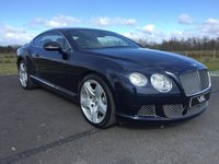 USED 2012 12 BENTLEY CONTINENTAL 6.0 GT MDS 2d Coupe AUTO 567 BHP