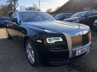 USED 2014 64 ROLLS-ROYCE GHOST 6.6 V12 4DR AUTO  SERIES II, Rear theatre, Full Rolls History.