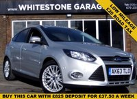 USED 2013 63 FORD FOCUS 1.0 ZETEC 5d 124 BHP MASSIVE SPEC INCLUDING SELF PARK, DOOR EDGE PROTECTORS, 17 INCH ALLOY WHEELS, FRONT AND REAR PARKING SENSORS, £20 YEAR TAX, LOW MILES. FSH@FORD