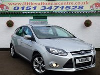 USED 2011 11 FORD FOCUS 1.6 ZETEC 5d 124 BHP FULL MAIN DEALER HISTORY, ONE OWNER FROM NEW, LOW FINANCE DEALS AVAILABLE