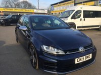 USED 2015 15 VOLKSWAGEN GOLF 2.0 R 5 DOOR 298 BHP IN METALLIC BLUE WITH ONLY 22000 MILES.  APPROVED CARS ARE PLEASED TO OFFER THIS BEAUTIFUL VOLKSWAGEN GOLF R IN METALLIC BLUE, WITH FULL DOCUMENT SERVICE HISTORY AND ONLY ONE PREVIOUS OWNER A STUNNING DRIVING CAR IN EVERY WAY WITH A GREAT LOOK.