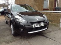 2010 RENAULT CLIO 1.5 DYNAMIQUE DCI 5d DIESEL ESTATE BLACK £2590.00