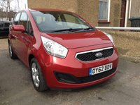 2012 KIA VENGA 1.4 CRDI 2 5d DIESEL MANUAL RED £3390.00