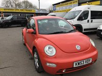2004 VOLKSWAGEN BEETLE 2.0 8V 3d 114 BHP IN ORANGE WITH 101000 MILES TRADE CLEARANCE £1000.00