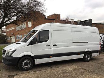2014 MERCEDES-BENZ SPRINTER 2.1 313CDI LWB HIGH ROOF 130BHP NEW SHAPE. 89K. FMBSH. 1 OWNER. £10490.00