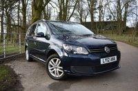 2012 VOLKSWAGEN TOURAN 1.6 SE TDI 5d 106 BHP £9595.00