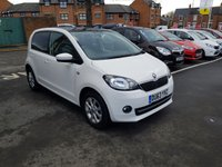 USED 2013 63 SKODA CITIGO 1.0 ELEGANCE 5d AUTO 74 BHP AUTOMATIC WITH GOOD FUEL ECONOMY AND CHEAP TO RUN!..ONLY £20 ROAD TAX!.EXCELLENT SPECIFICATION WITH SATELLITE NAVIGATION , PARKING SENSORS AND PANORAMIC ROOF!!