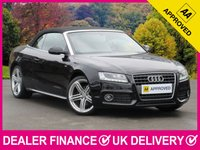 USED 2011 11 AUDI A5 1.8 TFSI S LINE AUTO CONVERTIBLE FULL LEATHER ELECTRIC HOOD BLACK LEATHER BLUETOOTH XENONS