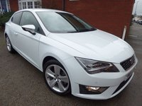 2015 SEAT LEON 2.0 TDI FR TECHNOLOGY 5d 150 BHP Special Nevada White Metallic Paint £10350.00