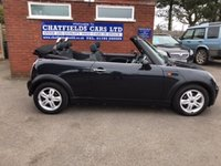 USED 2008 08 MINI CONVERTIBLE 1.6 ONE 2d 89 BHP 2 OWNERS, ELECTRIC ROOF CONVERTIBLE CABRIOLET