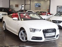 USED 2013 13 AUDI A5 CABRIOLET 2.0 TDI S LINE Special Edition 2d 141 BHP EXCLUSIVE RED HTD LEATHER+FSH