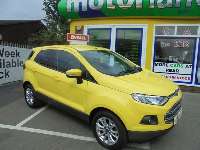 USED 2016 65 FORD ECOSPORT 1.5 ZETEC TDCI 5d 94 BHP **NO DEPOSIT DEALS AVAILABLE**