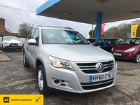 USED 2010 60 VOLKSWAGEN TIGUAN 2.0 S TDI 4MOTION DSG 5d AUTO 138 BHP NEED FINANCE? WE STRIVE FOR 94% ACCEPTANCE! 4X4/Auto/