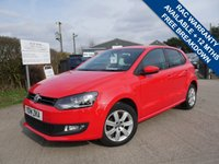 USED 2014 14 VOLKSWAGEN POLO 1.2 MATCH EDITION 5d 69 BHP ONE FORMER KEEPER FROM NEW, BLUETOOTH, AIR CONDITIONING