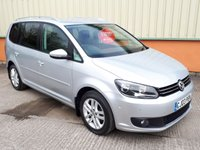 2013 VOLKSWAGEN TOURAN 1.6 SE TDI BLUEMOTION TECHNOLOGY DSG 5d AUTO 106 BHP £10795.00