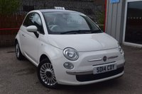 2014 FIAT 500 1.2 LOUNGE 3d 69 BHP £6495.00