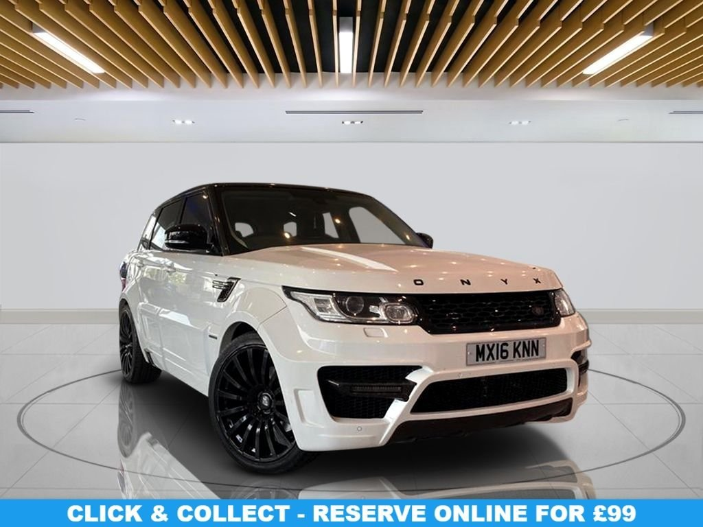 USED 2016 65 LAND ROVER RANGE ROVER SPORT 3.0 SDV6 HSE 5d AUTO 288 BHP | ONYX - SAN MARINO EDITION Navigation System, Parking Sensors(s), Privacy Glass, Leather Seats, 22-inch Alloy Wheels, Climate Control