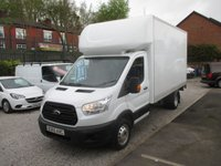2015 FORD TRANSIT  FORD LUTON ALLOY TAIL LIFT 2.2 350 C/C DRW  125bhp  2015 year 65 reg plate FULL HISTORY  £10995.00