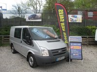 2009 FORD TRANSIT   FACTORY CREW CAB SIX SEATS  METALLIC SILER ,DIESEL 2,2 TURBO  USED FOR TAKE MEN WORK  DRIVES WELL PLENTY HISTORY  £4800.00