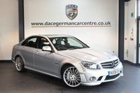 USED 2008 08 MERCEDES-BENZ C CLASS 6.2 C63 AMG 4DR AUTO 451 BHP +  FULL BLACK LEATHER INTERIOR + FULL SERVICE HISTORY + SATELLITE NAVIGATION + PANORAMIC ROOF + BLUETOOTH + HEATED SPORT SEATS + DAB RADIO + PREMIUM SOUND SYSTEM + CRUISE CONTROL + PADDLE SHIFT + RAIN SENSORS + PARKING SENSORS + 19 INCH ALLOY WHEELS +