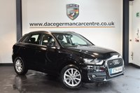 USED 2014 14 AUDI Q3 2.0 TDI QUATTRO SE 5DR AUTO 175 BHP + FULL SERVICE HISTORY + 1 OWNER FROM NEW + SATELLITE NAVIGATION + BLUETOOTH + SPORT SEATS + RAIN SENSORS + HEATED MIRRORS + PARKING SENSORS + 18 INCH ALLOY WHEELS +