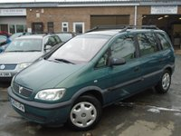 USED 2002 02 VAUXHALL ZAFIRA 1.8 COMFORT 16V 5d 124 BHP GREAT VALUE 7 SEATER + 2 OWNER
